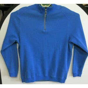 Tommy Bahama Men's 1/4 Zip Pullover Sweater Blue